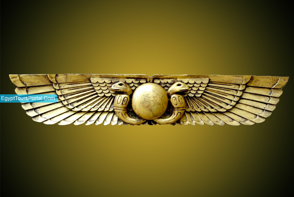 Egyptian Winged Sun - Ancient Egyptian Symbols - Egypt Tours Portal