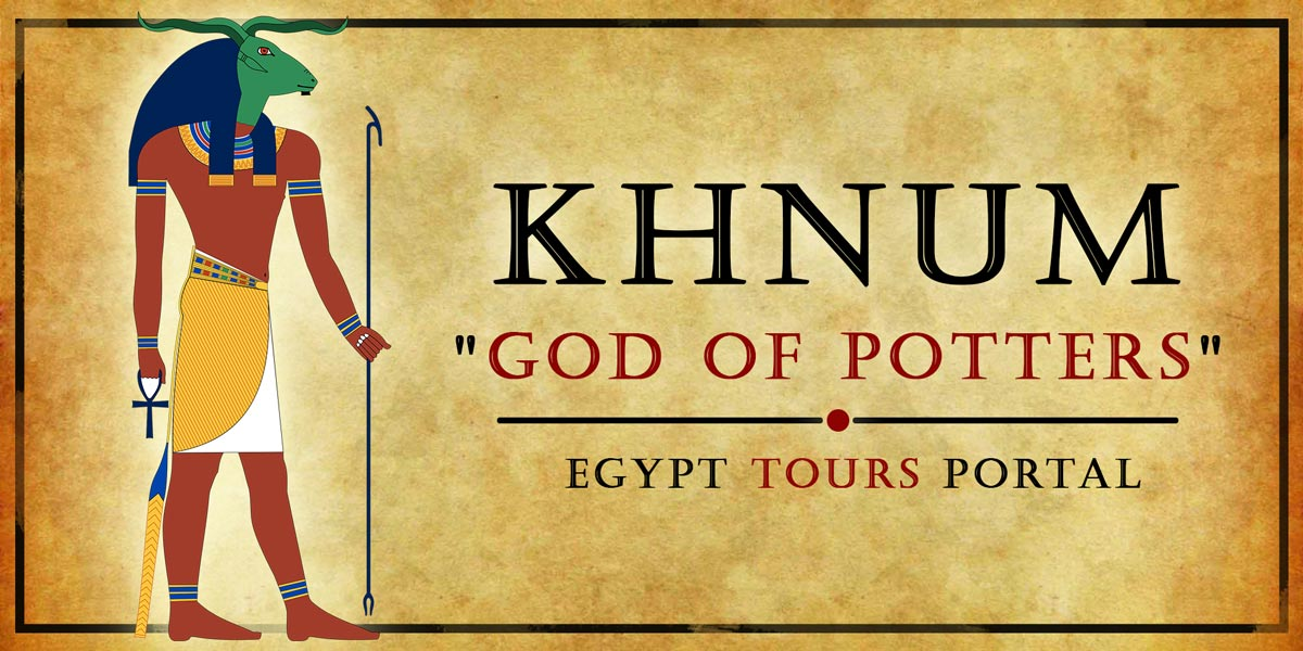 Khnum, God of Potters - Ancient Egyptian Gods And Goddesses - Egypt Tours Portal