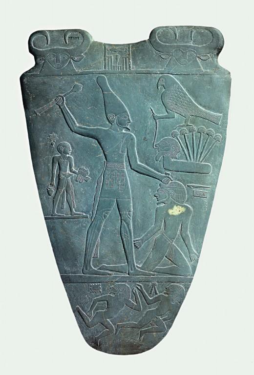 Narmer Palette Smiting Side - Egypt Tours Portal