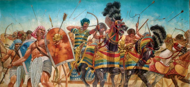 Ramesses II at the Battle of Kadesh / Illustration