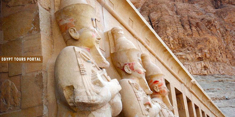 Hatshepsut Temple Statues - Egypt Tours Portal