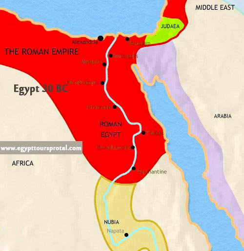 Ancient Egypt Map 30 BCE - Egypt Tours Portal