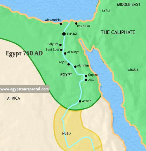 Ancient Egypt Map 750 AD - Egypt Tours Portal