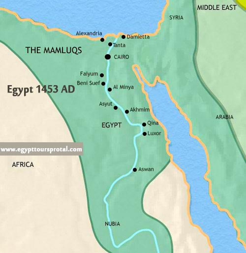 Ancient Egypt Map1453 AD - Egypt Tours Portal