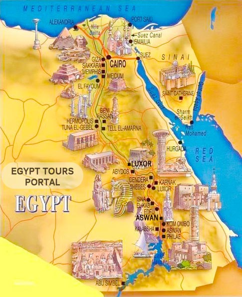 Ancient Egyptian Civilization Map - Egypt Tours Portal