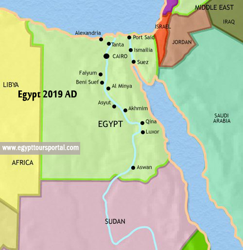 Egypt Map 2019 AD - Egypt Tours Portal