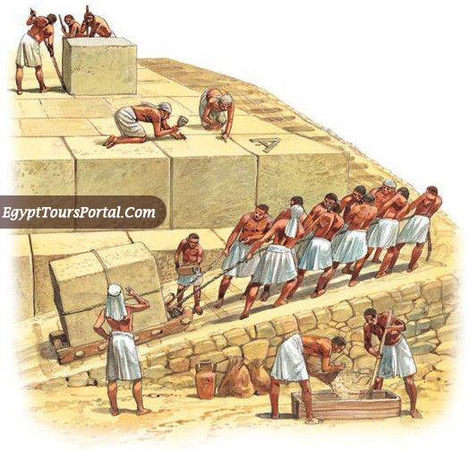 Blocks Placement of the Pyramids - Egypt Tours Portal