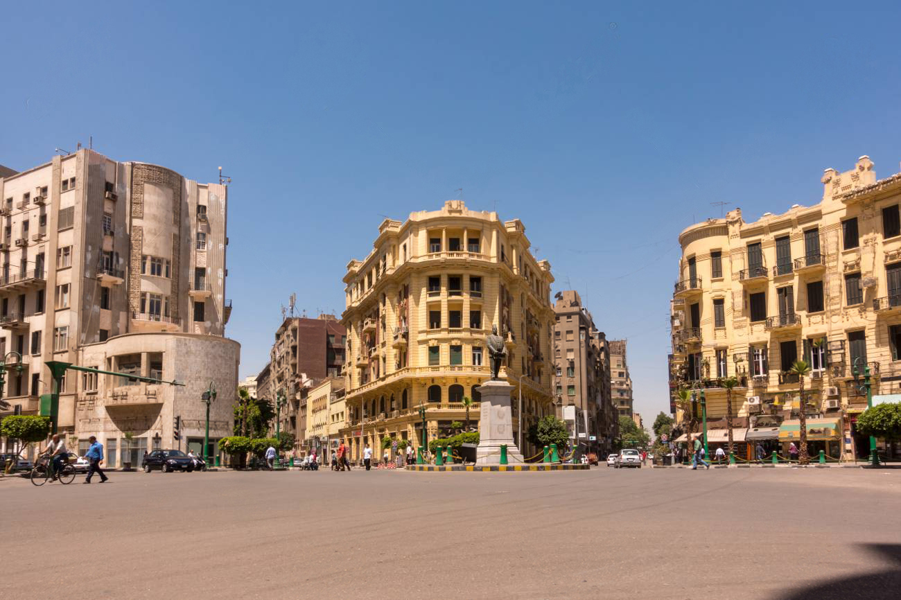 Famous Talaat Harb Square in downtown Egypt - 8 Days Egypt Tours - Egypt Tours Portal