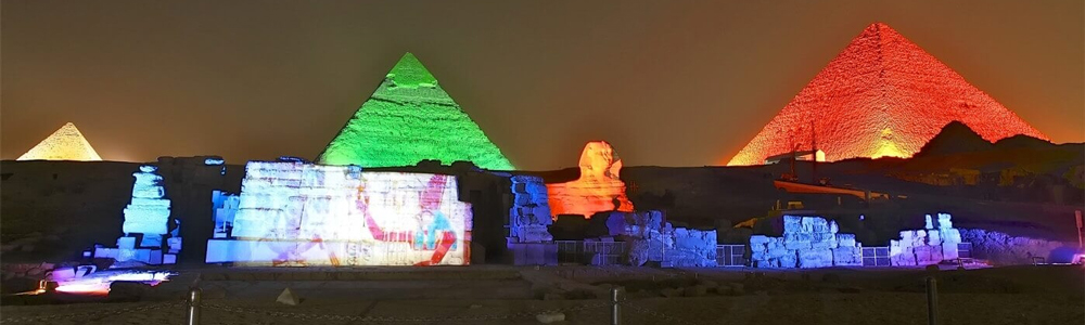 Day One:Arrival at Cairo Airport + Sound and Light Show at Pyramids