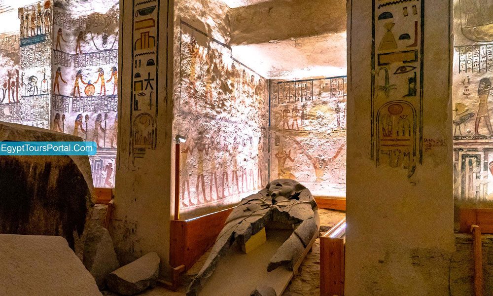 Architectural of Ramses IV Tomb - Egypt Tours Portal
