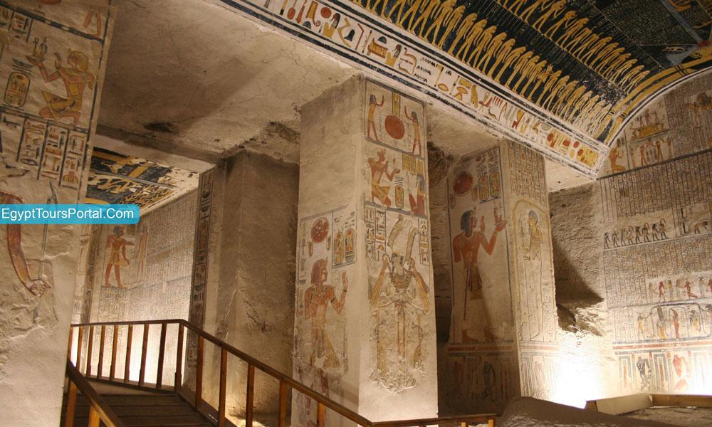 Decoration of Ramses IV Tomb - Egypt Tours Portal